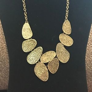Jewelry - Odd Ovals Gold Statement Necklace